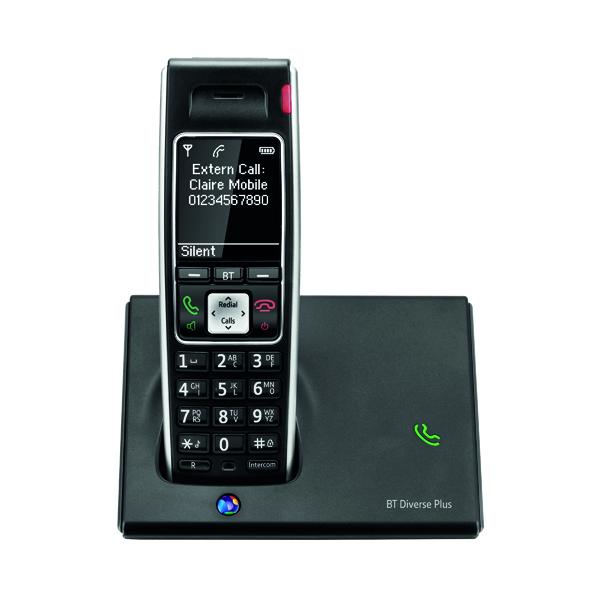 BT Diverse 7410 Plus DECT Cordless Phone Black BT61475