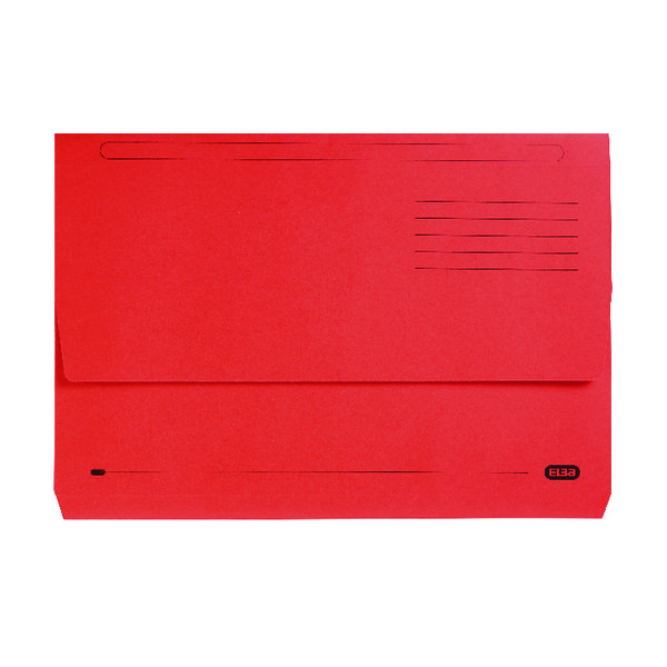 Elba StrongLine Document Wallet Bright Manilla Foolscap Red (Pack of 25) 100090136