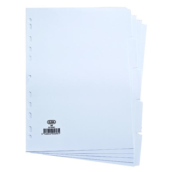 Elba 5-Part Divider 160gsm White A4 100204880