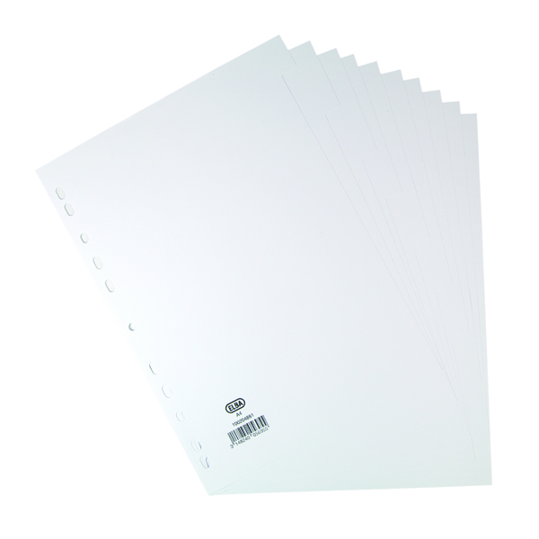 Elba 10-Part Divider 160gsm White A4 100204881