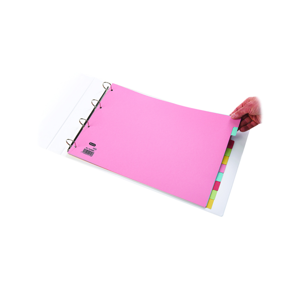 Elba 10-Part Card Divider A3 Assorted (Made from 100% recycled 160gsm manilla) 100080772