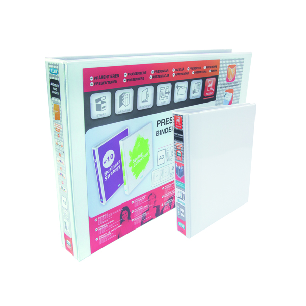 Elba Panorama 25mm 2 D-Ring Presentation Binder A5 White (Pack of 6) 400008434