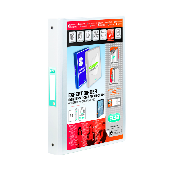 Elba Vision White A4 2 Ring Binder 100080889