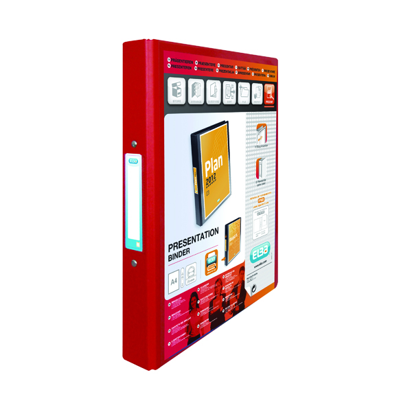 Elba Vision Red A4 2 Ring Binder 100080890