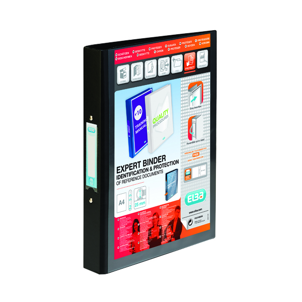 Elba Vision Black A4 2 Ring Binder 100080891