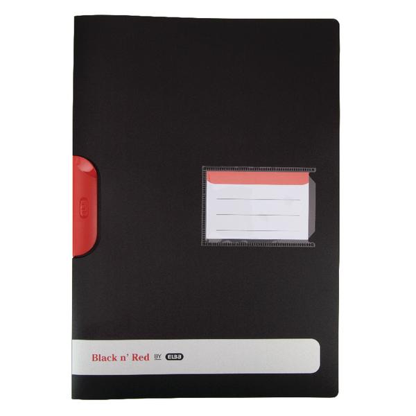 Elba Black n Red Polypropylene Clip File A4  (Pack of 5) 400063613
