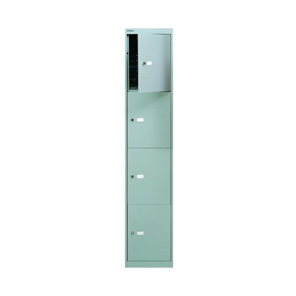 Bisley 4 Door Locker D305mm Goose Grey BY09213