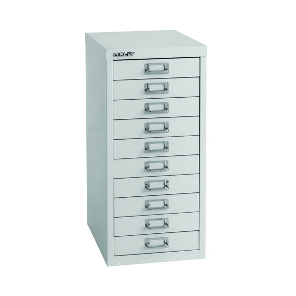Bisley 10 Drawer A4 Cabinet Grey H2910NL-073