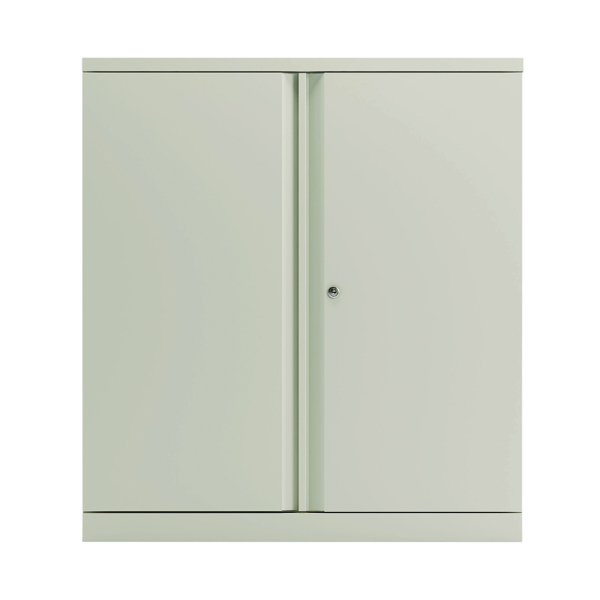 Bisley 2 Door 1000mm Cupboard Empty Chalk White KF78710