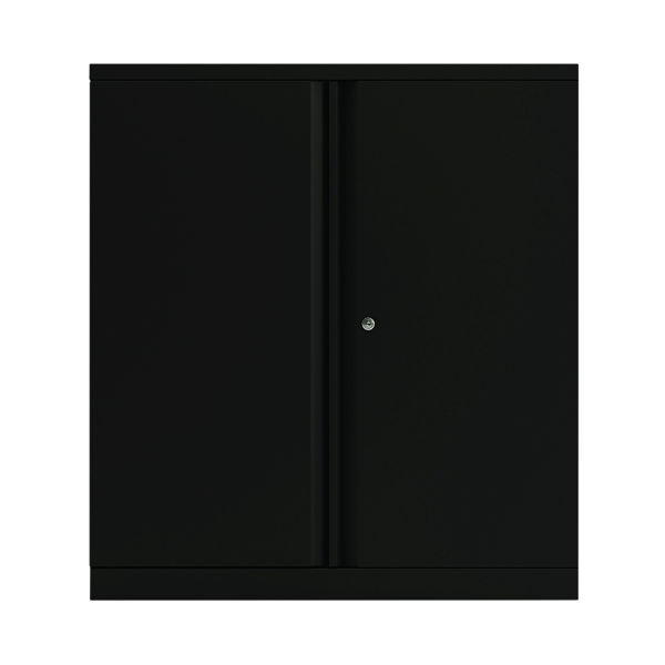 Bisley 2 Door 1000mm Cupboard Empty Black (Dimensions: W914 x D470 x H1000mm) KF78711