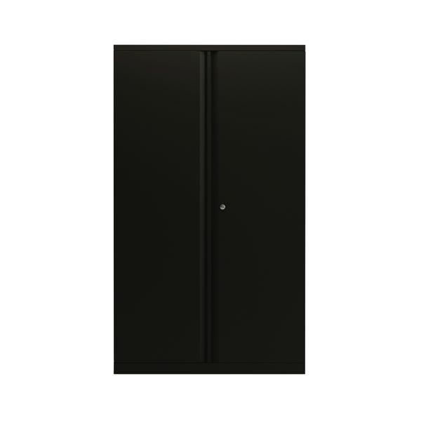 Bisley 2 Door 1570mm Cupboard Empty Black (Dimensions: W914 x D470 x H1570mm) KF78714