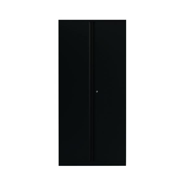 Bisley 2 Door 1970mm Cupboard Empty Black (Dimensions: W914 x D470 x H970mm) KF78717