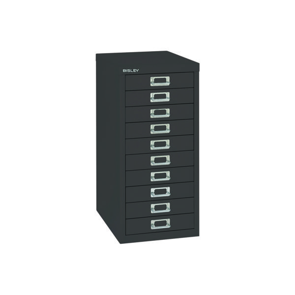 Bisley 10 Drawer Cabinet Black BY99639