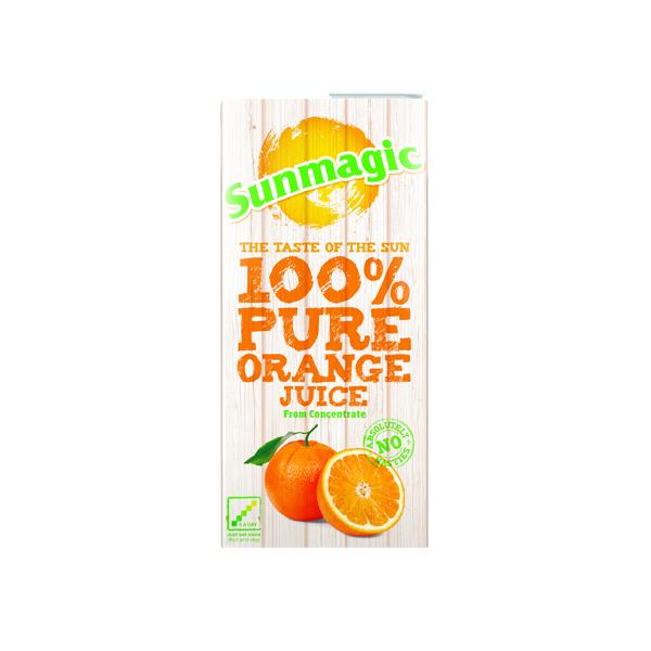 Pure Orange Juice 1 Litre Cartons (Pack of 12) A08067