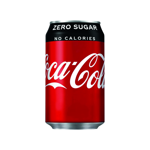 24 x Coke Zero Soft Drink 330ml Can(Gluten, dairy and nut free) 402003