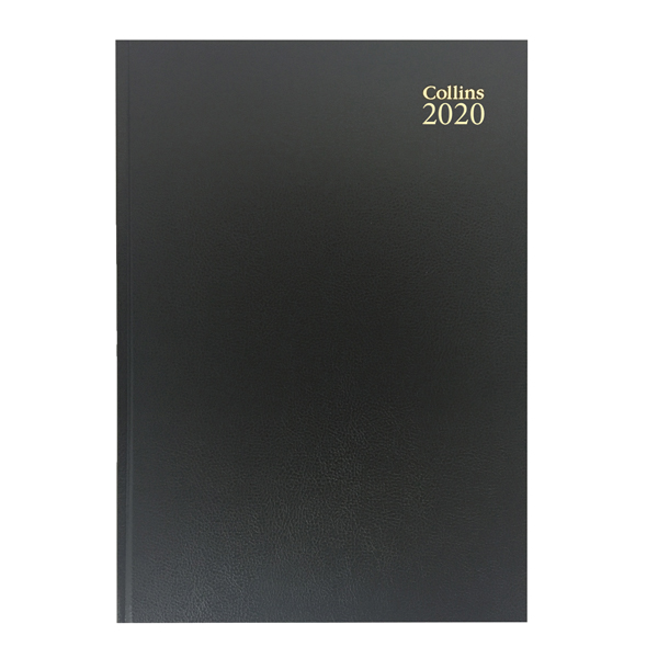 Collins Desk Diary A5 Week to View 2020 Black (Cased in durable leathergrain with page marker) 35