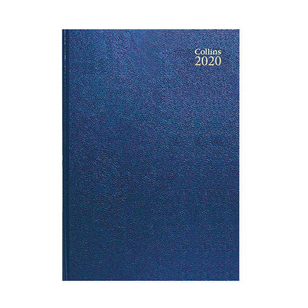 Collins Desk Diary A4 Week to View 2020 Blue (Features web directory and staff holiday planner) 40