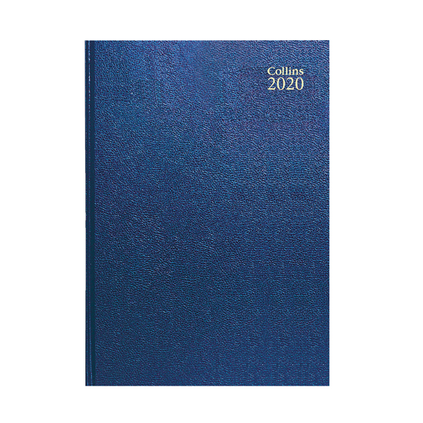 Collins Desk Diary A4 Day Per Page 2020 Blue (Features web directory and staff holiday planner) 44