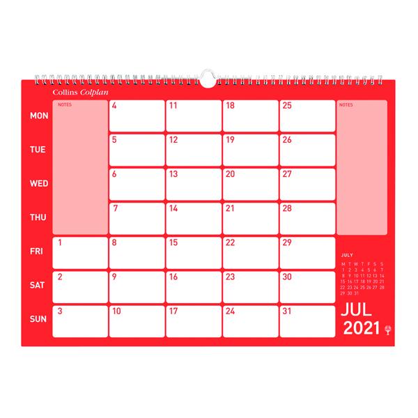 Collins Memo Calendar A3 2021 CMC
