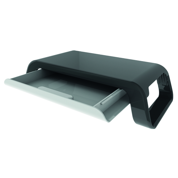 Contour Ergonomics Monitor Stand with Drawer Black K1383