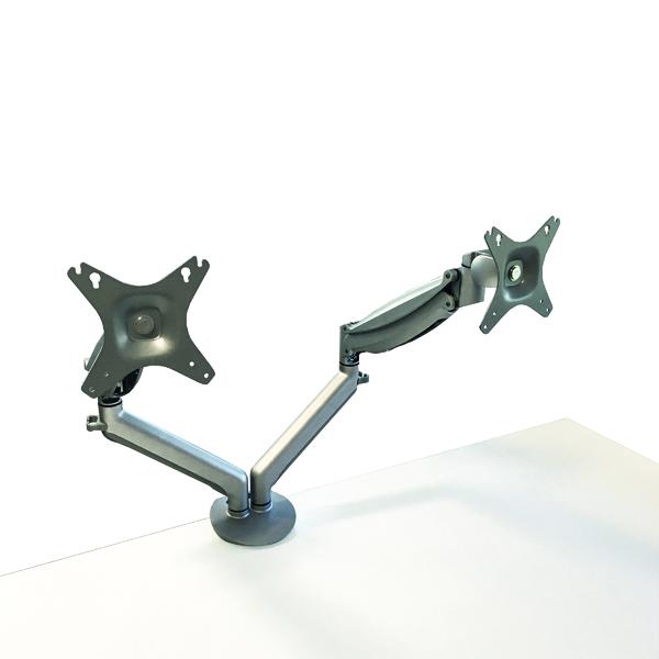 Contour Ergonomics Double Monitor Arm Silver CE77693