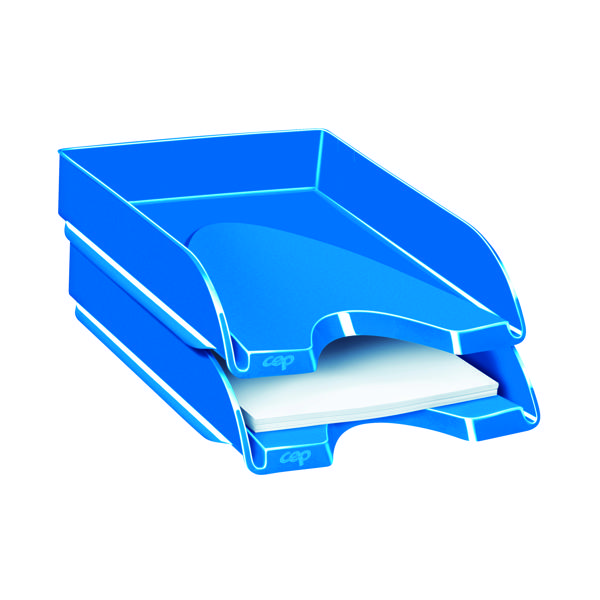 CEP Pro Gloss Letter Tray Blue 200GBLUE