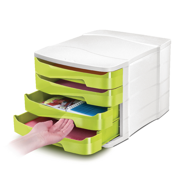 CEP Pro Gloss 4 Drawer Set Green 394BIGGREEN