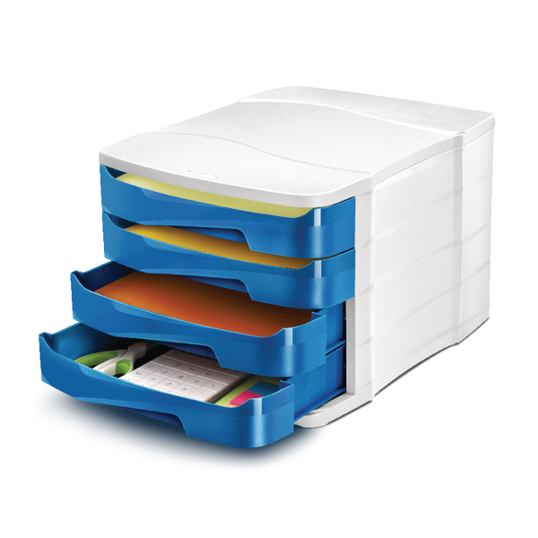 CEP Pro Gloss 4 Drawer Set Blue 394GBLUE