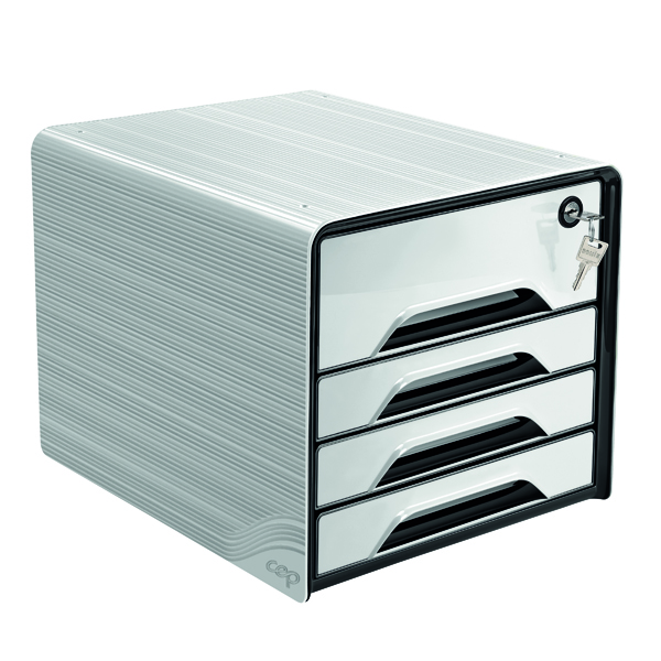 CEP Smoove Secure 4 Drawer Module with Lock White 7-311S White
