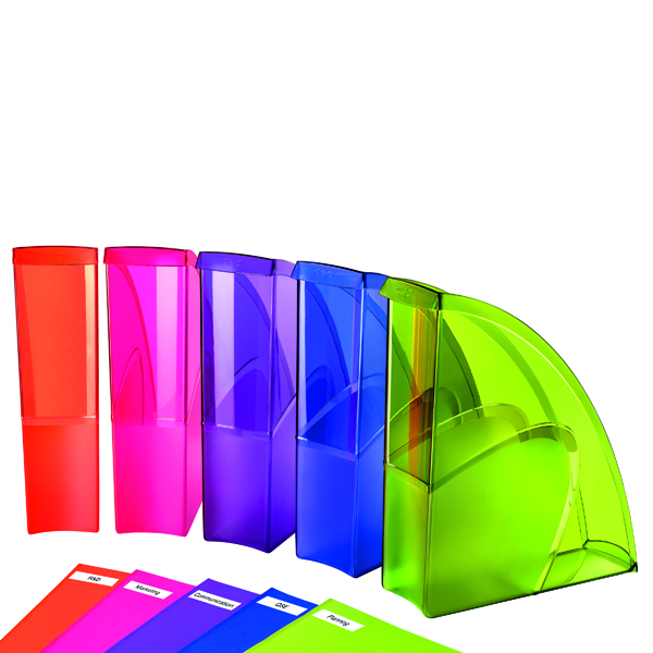 Happy by CEP Magazine File Multicoloured (Pack of 5) 674+*5 Happy