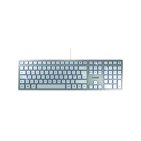 CHERRY KC 6000 Slim Ultra Flat Wired Keyboard Black JK-1600GB-1
