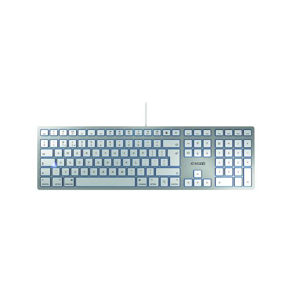 CHERRY KC 6000 Slim Ultra Flat Wired Mac Keyboard Silver JK-1610GB-1