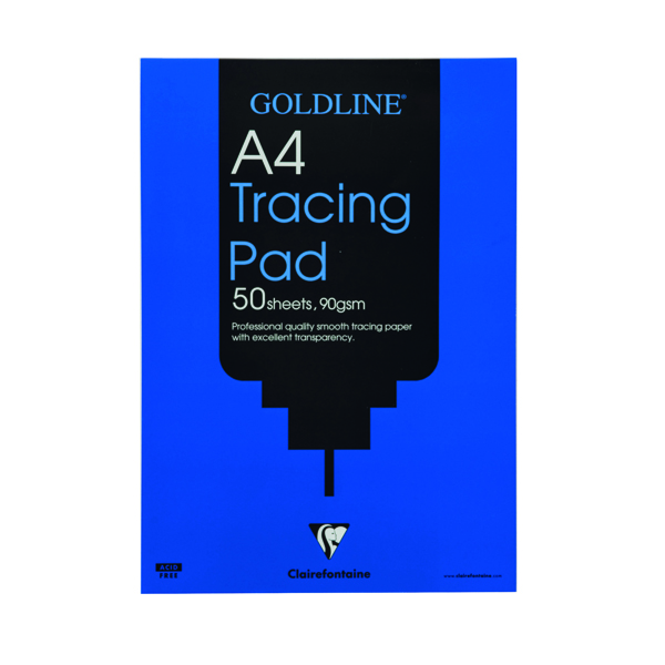 Clairefontaine Goldline Professional Tracing Pad 90gsm A4 50 Sheets GPT1A4