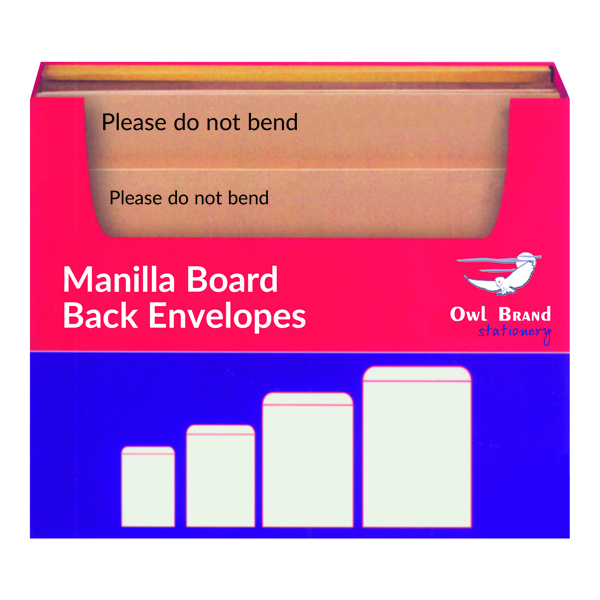 Manilla Board Back Envelope Selection Box OBS80
