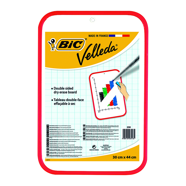 Bic Velleda Drywipe Board Red 300 x 440mm 812105