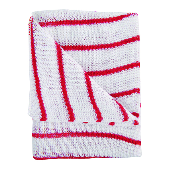 Hygiene Dishcloths 406x304mm Red/White (Pack of 10) 100755RD