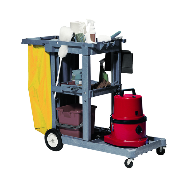 Struct-O-Cart Mobile Cleaning Trolley Grey (Includes reusable 100 litre vinyl waste bag) 101332