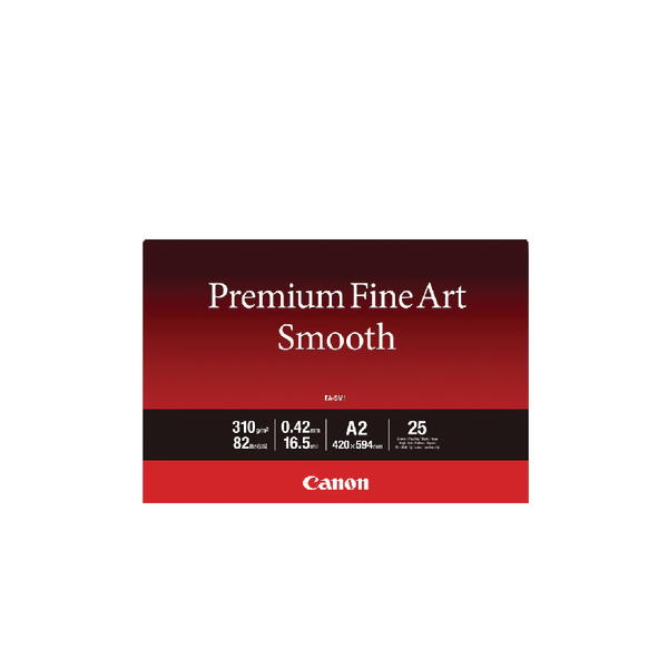 Canon Premium Fine Art Smooth A2 Paper (Pack of 25) 1711C006