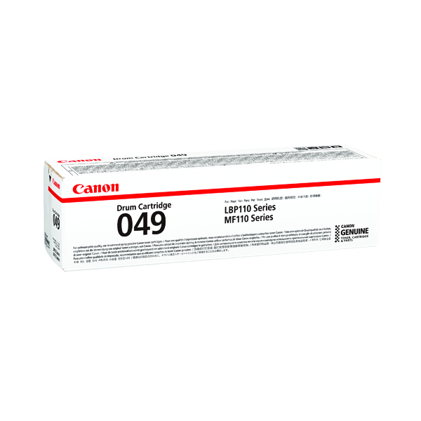 Canon CRG 049 Black Drum Cartridge (12,000 pages capacity) 2165C001
