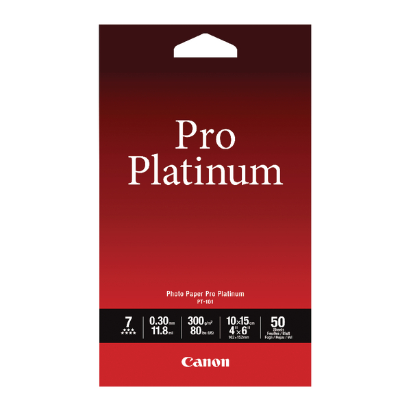 Canon Pro Platinum Photo Paper 4 x 6 Inch (Pack of 50) 2768B014