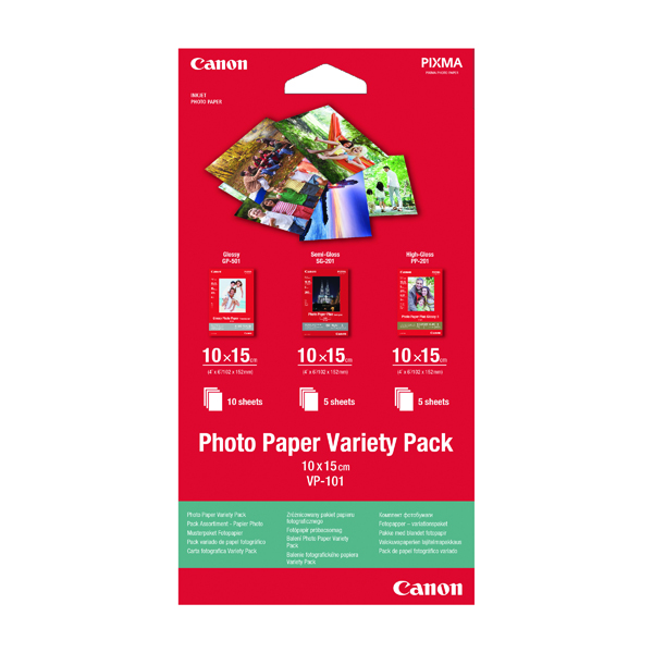 Canon Photo Paper Variety 10x15cm (Pack of 20) 0775B078
