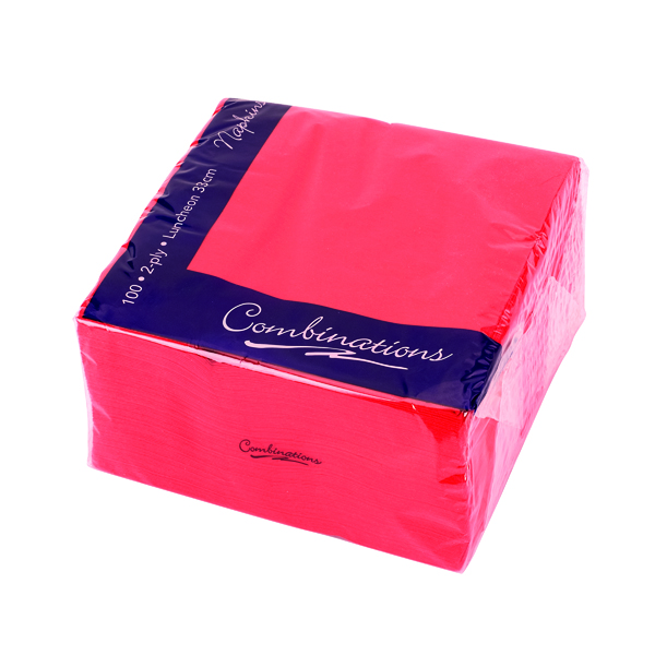 Maxima Napkins 330x330mm 2-Ply Red (Pack of 100) VSMAX33/2R