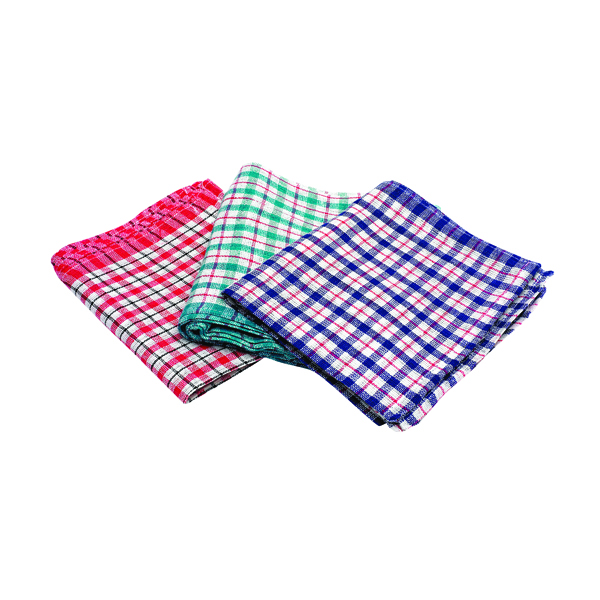 2Work Check Design Tea Towels 430x680mm (Pack of 10) KRSRY0311