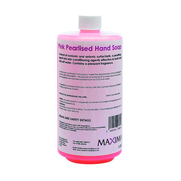Hand Soap Pink 1 Litre (Pack of 2) KSEMAXPS1