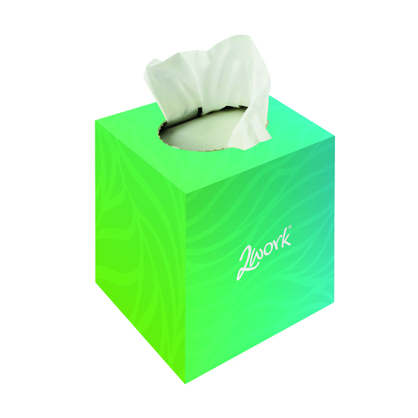 2Work Facial Tissues Cube 70 Sheets (Pack 24) FTW070