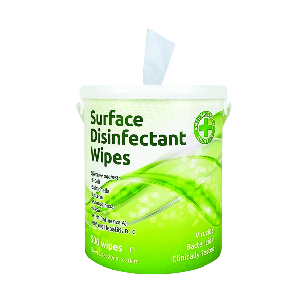 2Work Disinfectant Wipes (Pack of 500) EBSD500