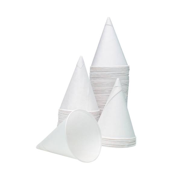 4oz Water Drinking Cone Cup White (Pack of 5000) ACPACC04