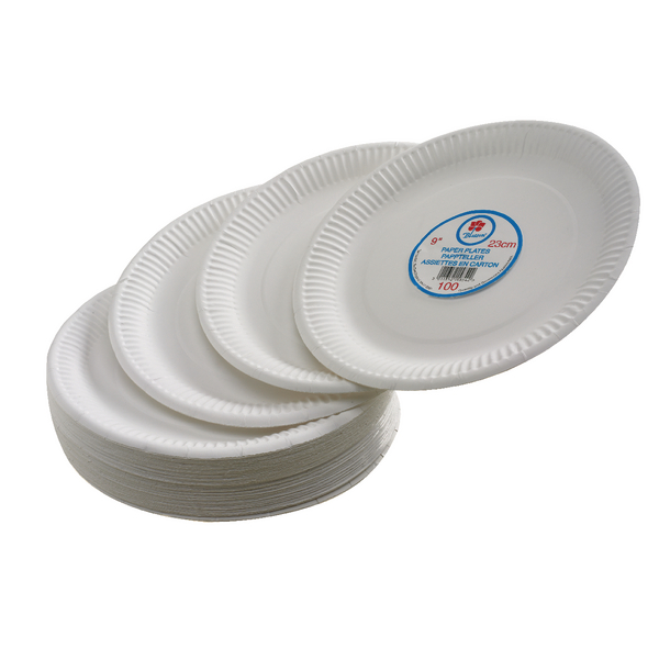 Paper Plate 7 Inch White (Pack of 100) 0511040
