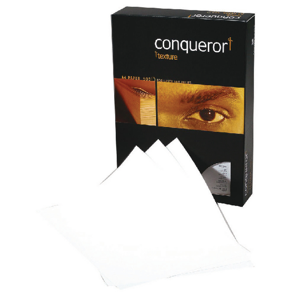 Conqueror Paper Laid Brilliant A4 White 100gsm Ream (Pack of 500) CQP0324032BWNW