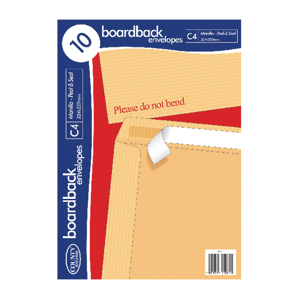 County Stationery C4 10 Manilla Board Envelopes (Pack of 10) C525